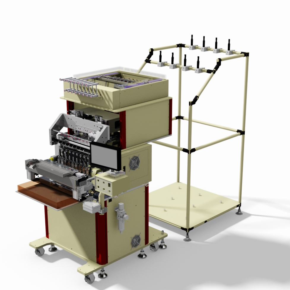 8 spindles coil winding machine with twister