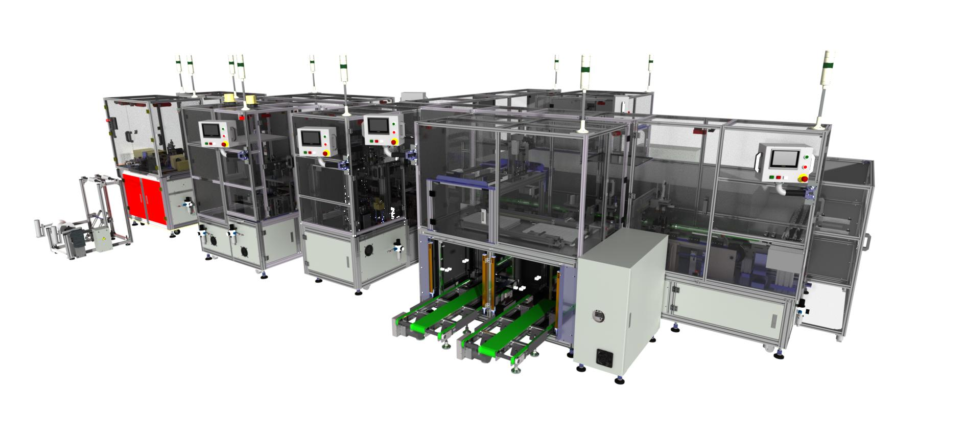 Flat Wire Sources : Edge flat wire assembly automatic machine line for energy