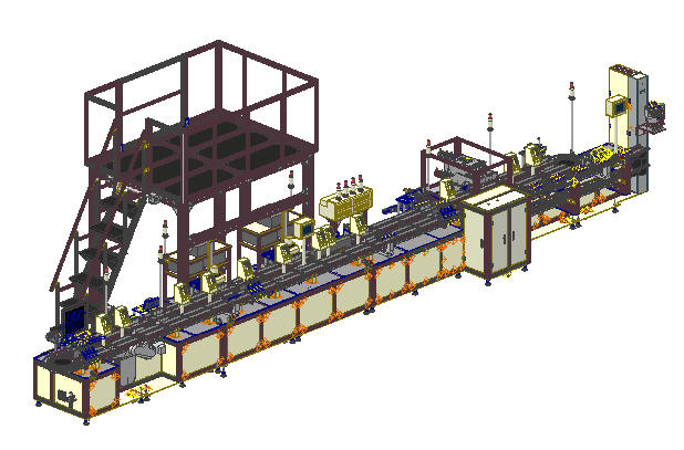 Valve fully automatic machine line