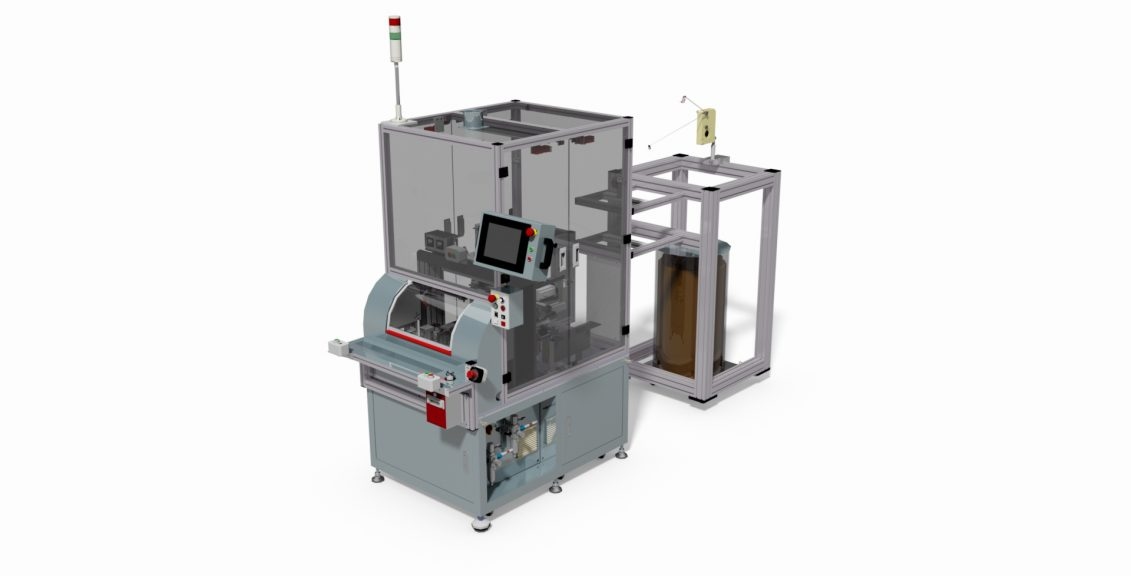 1 Spindle automatic coil winding machine with twister