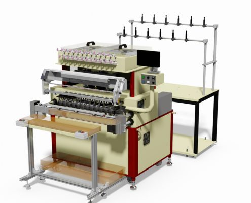 12 Spindles Coil winding machine with wire Twister